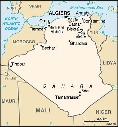 Cartes Algérie Plans Et Maps Des Villes Algériennes Itinéraires - Ouargla map