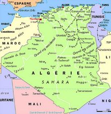 Carte Algérie capital