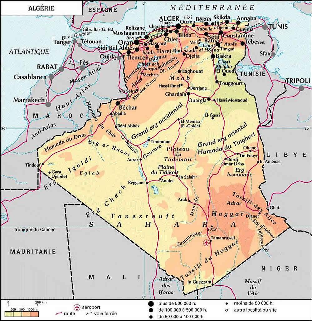 Carte Algeriecom.Carte Algerie Detaillee Carte Algerie