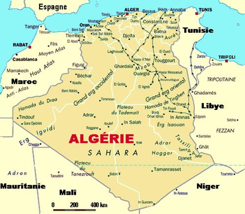 Carte Algerie Blida.Carte Algerie Petite Carte Algerie