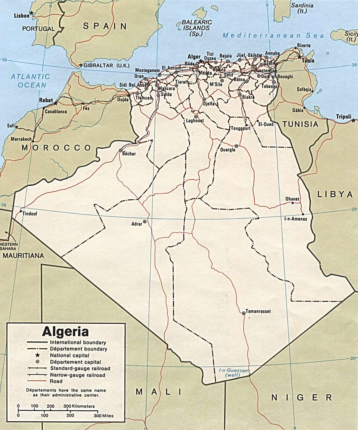Carte Algeriecom.Carte Politique Algerie Carte Algerie