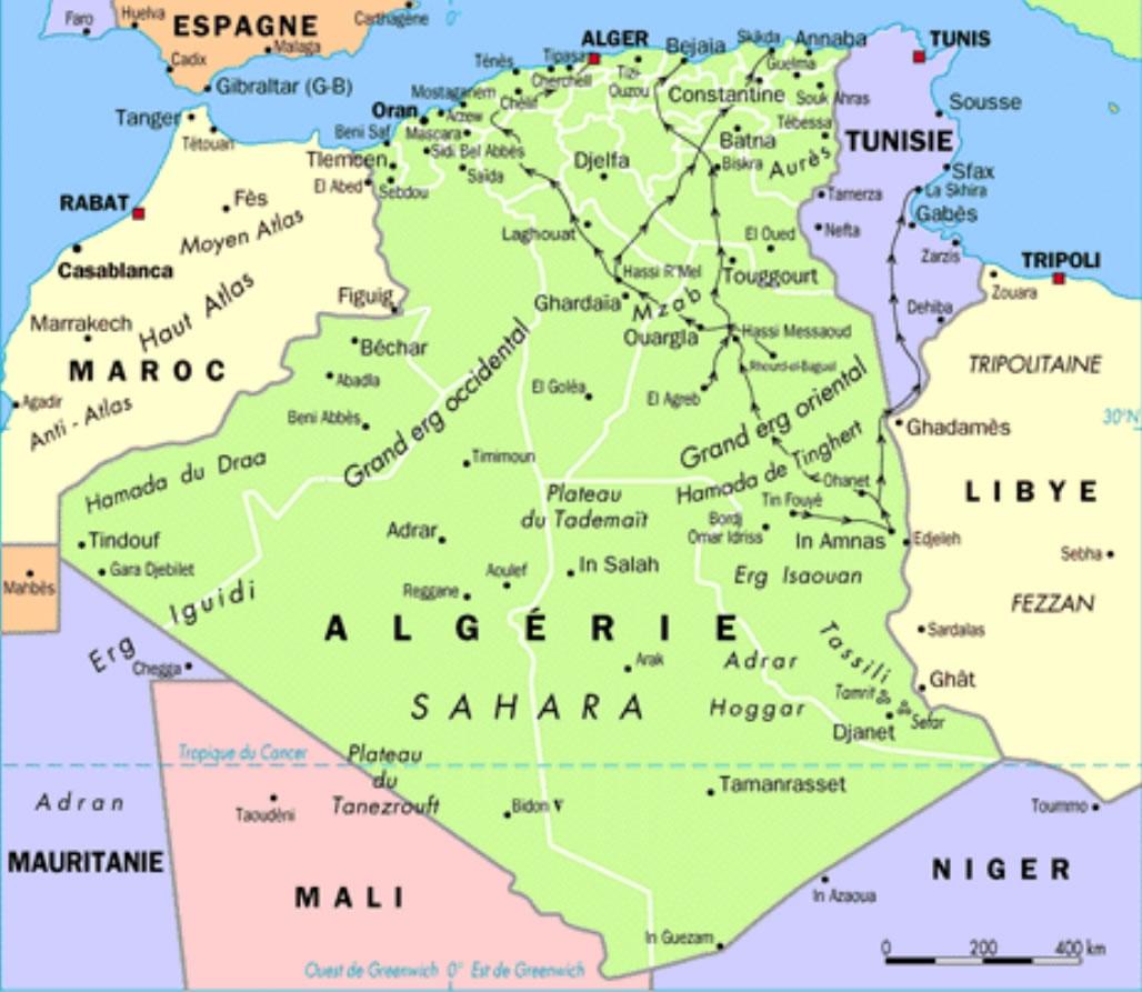 Carte Algerie Blida.Carte Ville Algerienne Carte Algerie